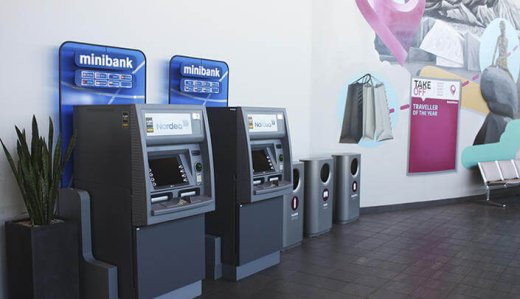 Банкоматы в здании аэропорта Аликанте