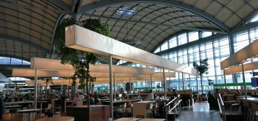 В здании терминала B