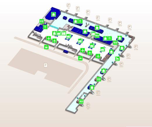 Карта здания аэропорта Аликанте