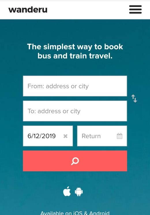 Поиск билетов на общественный транспорт