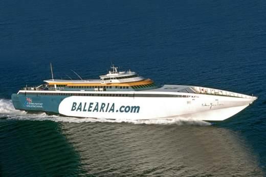 Добраться паромом из Дении до Мальорки